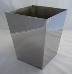 @Overstock - Enjoy the shiny mirror finish on this extra thick stainless steel wastebasket. This wastebasket is made of extra thick stainless steel that is sure to last years and look fantastic. http://www.overstock.com/Home-Garden/DMA-Elements-Stainless-Steel-Mirrored-Wastebasket/5245545/product.html?CID=214117 $31.99