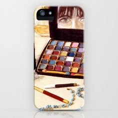 All is in Vain iPhone Case by Vargamari - $35.00 - oil painting