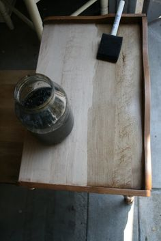Handmade Wood Stain: Vinegar and Steel Wool