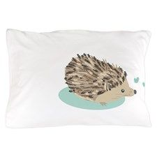 His Hedgehog Couple Pillow Case for