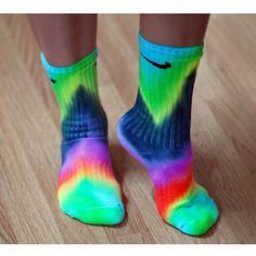 Chevron Tie Dye Nike Socks ($15) you could also get white Nike socks and tie dye them ur self