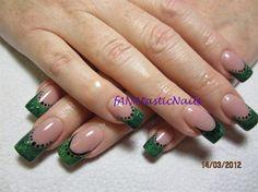 GREEN WITH ENVY! by fANAtasticNails - Nail Art Gallery nailartgallery.nailsmag.com by Nails Magazine www.nailsmag.com #nailart