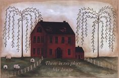 There's No Place Like Home - red Fine-Art Print by Pat Fischer at UrbanLoftArt.com