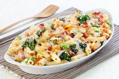 Casserole de pâtes au jambon, au brocoli et au fromage