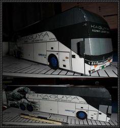 KAGUYA Highway Luxury Bus Paper Model Free Download - http://www.papercraftsquare.com/kaguya-highway-luxury-bus-paper-model-free-download.html