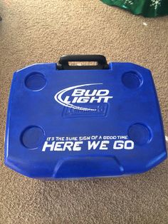 Rams Bud Light Cooler Fraternity Coolers, Frat Coolers, Sorority And Fraternity, Formal Cooler Ideas, Bubba Keg, Cooler Painting, Bud Light, Fathers, Creativity