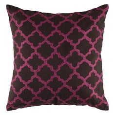 Rizzy Home Embroidered Trellis Pattern Decorative Throw Pillow - T04064