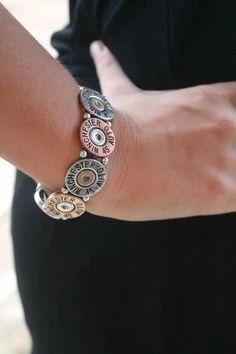 Inspiring Reasons I Love Jewelry Ideas. Intoxicating Reasons I Love Jewelry Ideas. Shotgun Shell Crafts, Shotgun Shell Jewelry, Ammo Jewelry, Shotgun Shell Art, Metal Jewelry, Jewelry Crafts, Handmade Jewelry, Shotgun Shells, Jewlery