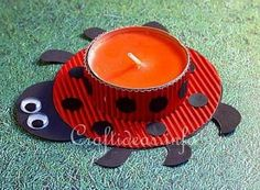 Spring Crafts for Kids - Lady Bug Tea Light Holder Spring Crafts For Kids, Art For Kids, Monkey Crafts, Ladybug Crafts, Craft Activities For Kids, Craft Ideas, Fun Ideas, Project Ideas, Animal Crafts