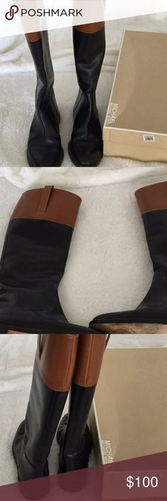 Michael Kors Boots Michael Kors black boots no scratches on leather heels in good condition worn a couple of times came from Nordstrom's KORS Michael Kors Shoes Heeled Boots