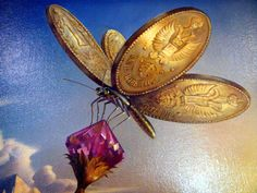 surreal paintings vladimir kush - Treasure Island dragonfly.JPG (1000×750)