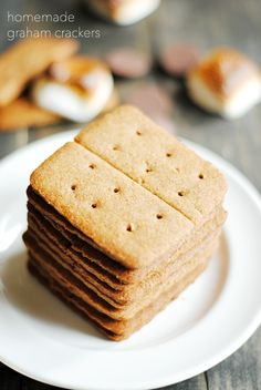 Homemade graham crackers.