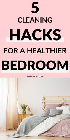 Cleaning hacks for a healthier bedroom! how to enjoy deep cleaning your house + free checklist + cleaning kit Spring Cleaning Schedules, Deep Cleaning Checklist, Cleaning Day, Deep Cleaning Tips, Green Cleaning, House Cleaning Tips, Natural Cleaning Products, Cleaning Hacks, Bedroom Cleaning Tips