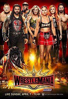 WWE WrestleMania 35 Poster 2019 by Sethjutt HD by sethjutt on DeviantArt Wrestling Live, Watch Wrestling, Wwe Ppv, Shane Mcmahon, Wrestlemania 35, Finn Balor, Wwe Champions, Full Show, Raw Women's Champion