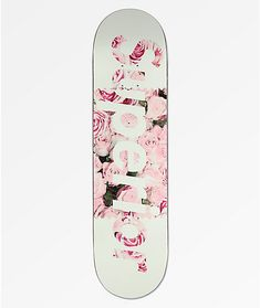 Give your skate set-up a splash of floral flair, with the Superior Floral Pink Skateboard Deck. This deck provides overall very mild concave, while the medium-sized wheel wells create ideal foot pockets for manuals and stalls. Finished with short and Girl Skateboard Decks, Skateboard Price, Skateboard Furniture, Skateboard Parts, Custom Skateboards, Complete Skateboards, Cool Skateboards, Longboard Design, Skateboard Design