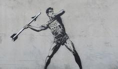 Banksy dévoile 2 nouveaux pochoirs à l'occasion des JO 2012