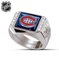 Shop The Bradford Exchange for Montreal Canadiens® Men's Ring. You never know what you're going to see when the Montreal Canadiens® are playing, but you know it will always be exciting - and the Habs® have Basketball Tickets, Basketball Teams, Montreal Canadiens, Pens Hockey, Bradford Exchange, Team Names, Blue Crystals, Clear Crystal, Golf Clubs