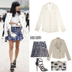 Compre moda com conteúdo www.oqvestir.com.br Fashion, Look, Street Style, Print, Pretty
