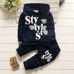 2016 Autumn New Baby Boy Clothes Sets Letter Print Style Long Sleeve Tracksuit Suit Little Boy Clothing Set