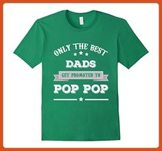 Mens Men's Only The Best Dads Get Promoted To Pop Pop Grandpa 2XL Kelly Green - Relatives and family shirts (*Partner-Link)