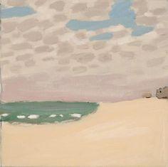 """Beach,"" Fairfield Porter, oil on canvas, 13 3/4 x 13 1/2"", Parrish Art Museum."