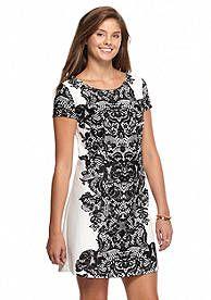 My Michelle Placement Print A-Line Dress
