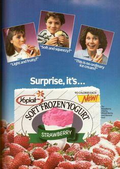 1987 YOPLAIT SOFT FROZEN YOGURT PRINT ADVERTISEMENT AD VINTAGE VTG 80s #Yoplait