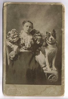 Victorian Era Photo with A Pit Bull Terrier- A Nanny Dog