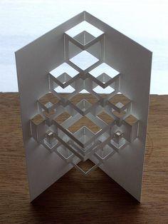 cube module // paper art origami architecture geometry cut ...