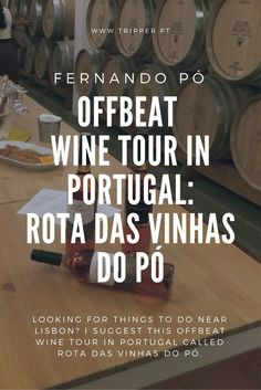 Since readers often ask me for suggestions of things to do near Lisbon, I did all the hard research and found an offbeat wine tour in Portugal that you probably haven't heard about. Rota das Vinhas do Pó takes you on a semi-scenic train ride from Lisbon to meet and greet wine-producing families at the tiny village of Fernando Pó, 40 minutes from the Portuguese capital.  #RotaDasVinhasDoPo #WineTourInPortugal #WineTourismInPortugal #WineTourism #CulturalTourism