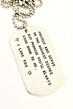 Personalized Dog Tag Necklace Hand Stamped by ForeverHeartPrints