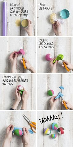 DIY stress balls from balloons