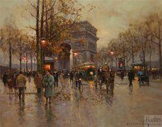 Edouard Leon Cortes - Arc de Triomphe, Avenue Friedland