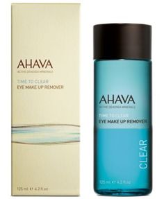 Ahava Time To Clear Eye Make Up Remover, 4.2 oz - Makeup - Beauty - Macy's $10