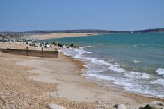 The stunning untouched coastline at Milford on sea. Looking out to the Isle of Wight and Hurst castle.