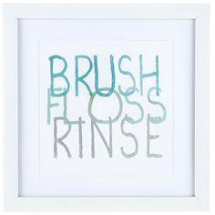 Brush Floss Rinse Framed Art   Hobby Lobby   1125517