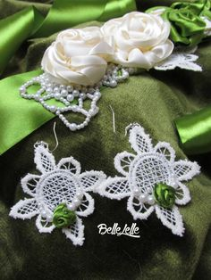 Mohazöld öv fülbevalóval (S) Crochet Earrings, Brooch, Vintage, Jewelry, Fashion, Moda, Jewlery, Jewerly, Fashion Styles