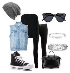 """""""Casual DayWear"""" by mistywaves89 ❤ liked on Polyvore featuring rag & bone, Frame Denim, Converse, Givenchy, Effy Jewelry, Cartier and Le Specs"""