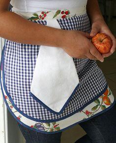 Avental com Toalha Fruta  http://loja.coisasdaleia.com.br