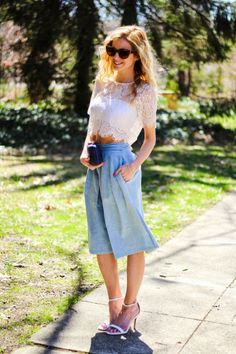 culottes + a crop | The Knotted Chain