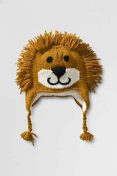 Kids' Hand Knit Animal Hat from Lands' End (Comes in Lion, Zebra, Sock Monkey & Reindeer) $39