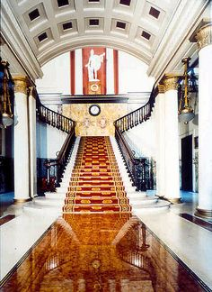 The Athenaeum is a private members club in London. Founded in 1824, it was originally a gentlemen's club but in 2002 the club members voted to admit lady members.. Designed by Decimus Burton in the Neoclassical style, 107 Pall Mall, London