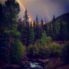 Rainbow outside of Lake City, Colorado along Lake Fork of the Gunnison River. (Tracy Lanktree)
