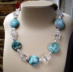 Ocean Jasper Rock Crystal and Sterling Silver Necklace £139.00