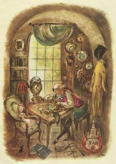 Dziadek do orzechów Hofmann il J M Szancer 1957 r - 7679261070 - oficjalne archiwum Allegro Fairytale Cottage, Fairytale Art, Dream Fantasy, Fantasy Art, Children's Book Illustration, Conte, Art And Architecture, Les Oeuvres, Illustrations Posters