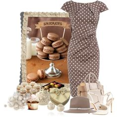 Chocolat macarons, created by albaor on Polyvore