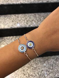Evil Eye Ring, Evil Eye Bracelet, Eye Necklace, Cute Jewelry, Jewlery, Silver Bracelets, Cuff Bracelets, Body Jewelry Shop, Evil Eye Jewelry