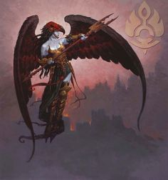 Desolation Angel art by Brom