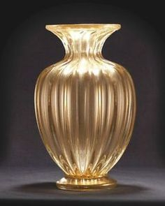 BEAUTIFUL-DONGHIA-STYLE-VENETIAN-MURANO-MASSIMO-GLASS-BOWL-WITH-24-K-GOLD-DUST