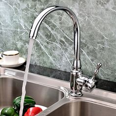 Classic+Solid+Brass+Kitchen+Faucet+-+Chrome+Finish+–+AUD+$+97.04